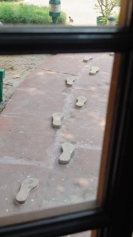 Gandhiji's final footsteps depiction