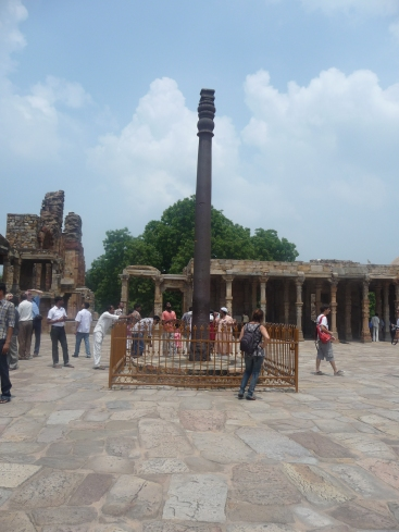 Iron Pillar at Qutub Minar