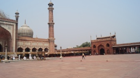 Jama Masjid view of the courtyard