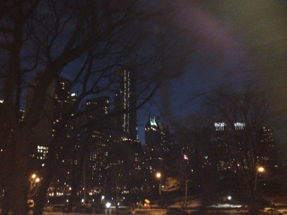 Night view at Central Park