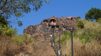 123 steps to reach the cave at bojjanakonda