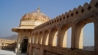 amber fort jaipur high above