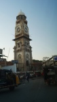 clock tower in the middle of ajmer