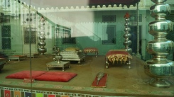display of silver in the udaipur city palace