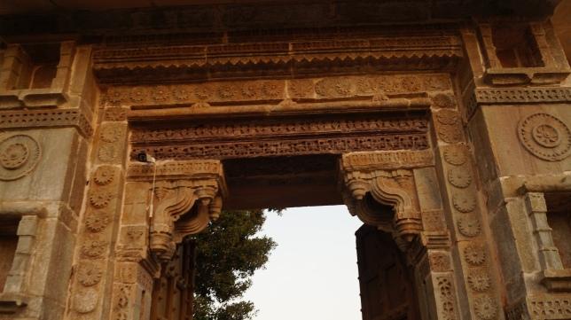 doorway carvings inside chittorgarh fort
