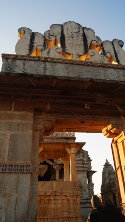 entrance to the temple complex at chittorgarh