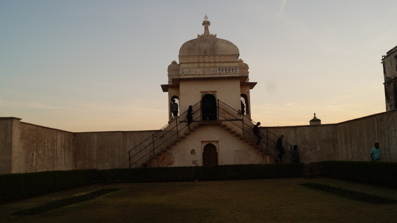 guard tower at padmini's palace in chittorgarh fort