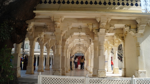 infinite pillar illusion city palace udaipur