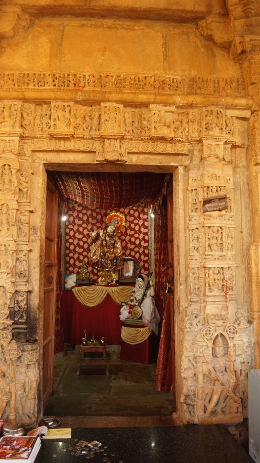 inside mirabai temple at chittorgarh