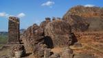 main stupa surrounded by small stupas at bojjanakonda