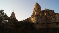 mira temple to the left and krishna temple to the right at chittorgarh