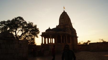 mirabai temple at sunset