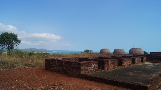 monk living quarters at thotlakonda