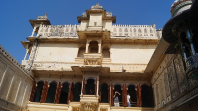 mor chowk with glass inlay work in udaipur city palace