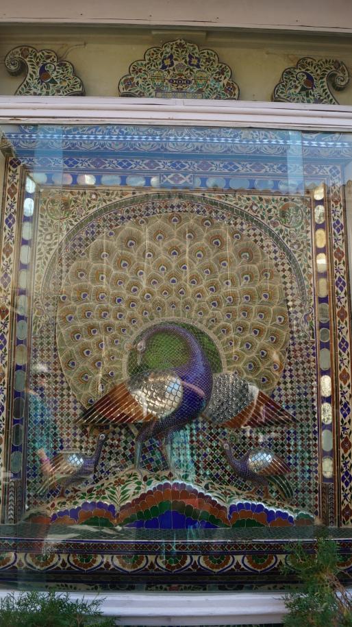 mosaic art inside udaipur city palace