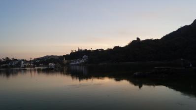 nakki lake at sunset