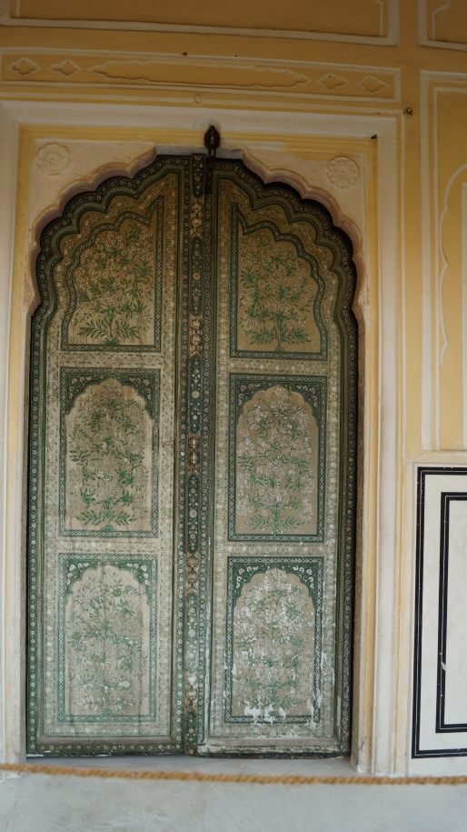 painted door in hawa mahal jaipur