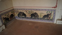 paintings at kumbhalgarh fort upclose