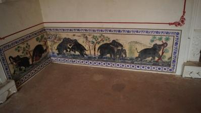 paintings at kumbhalgarh fort upclose