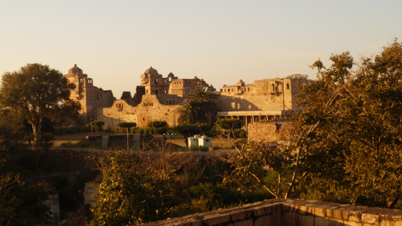palace grounds at chittorgarh