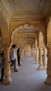 pillars amber fort jaipur
