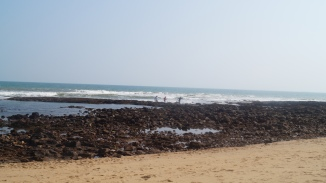 rocky end of rushikonda beach