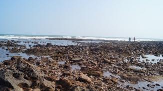 rocky side of rushikonda beach