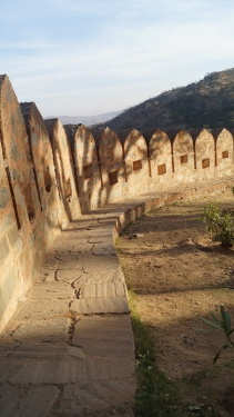 section of the interior fort wall at kumbhalgarh