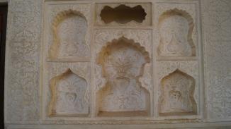 stonework inside amber fort jaipur