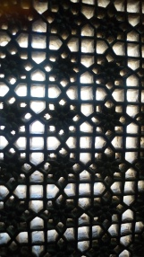 stonework lattice windows inside udaipur palace