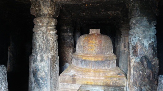 stupa inside the cave in bojjanakonda