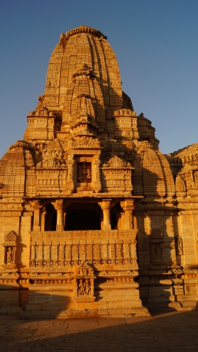 temple at suset in chittorgarh