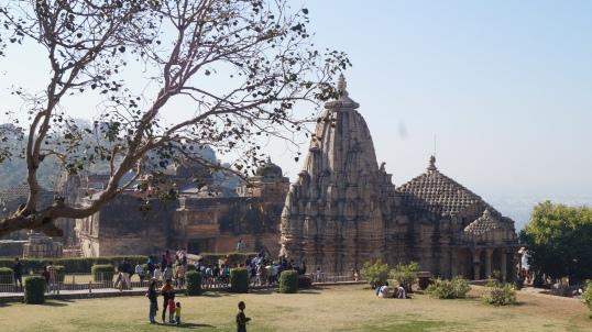 temple complex near jauhar ground in chittorgarh fort