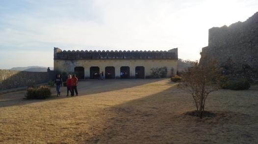 the canon hall inside kumbhalgarh fort