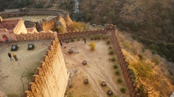 the different levels at kumbhalgarh fort
