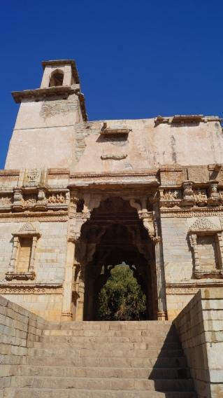 the doorway of alauddin khilji at chittorgarh