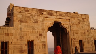 the eastern gate at the chittorgarh fort