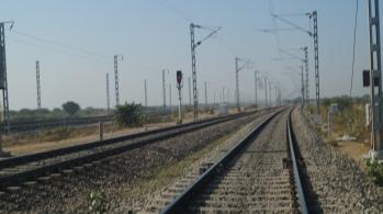 train tracks on the way
