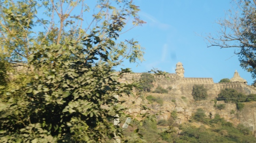 view as you approach chittorgarh fort
