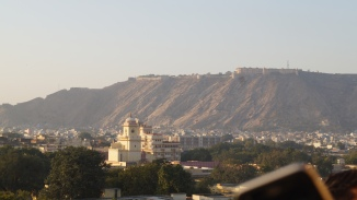 view from hawa mahal courtyard jaipur