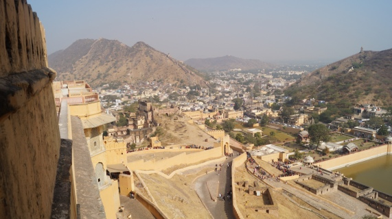 view from top of amber fort jaipur