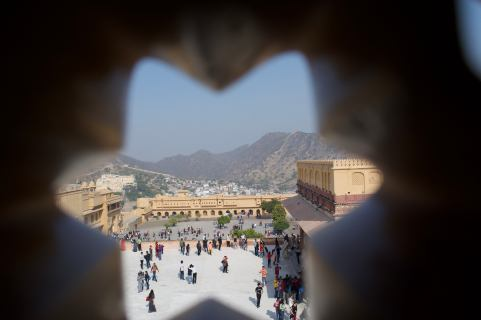 view of amber fort courtyard