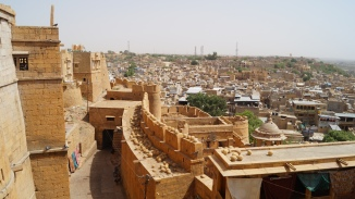 view of golden city