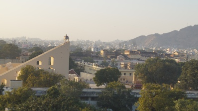 view of jantar mantar from hawa mahal in jaipur