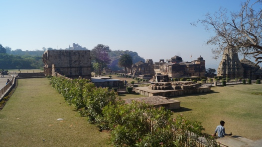 view of jauhar site and surrounding temples in chittorgarh