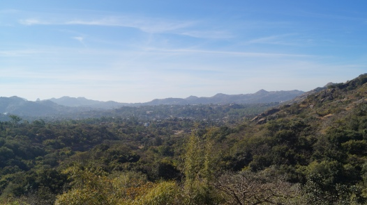 view of mt abu from the viewpoint in trevor's tank