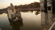 view of padmini's palace at chittorgarh fort