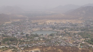view of pushkar lake from savitri temple