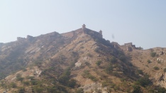 view of surrounding fort of amber in jaipur