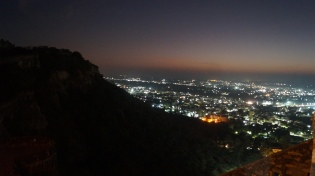 view of the city of chittorgarh from the fort